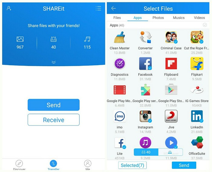 transfer photos from iphone to android-Shareit