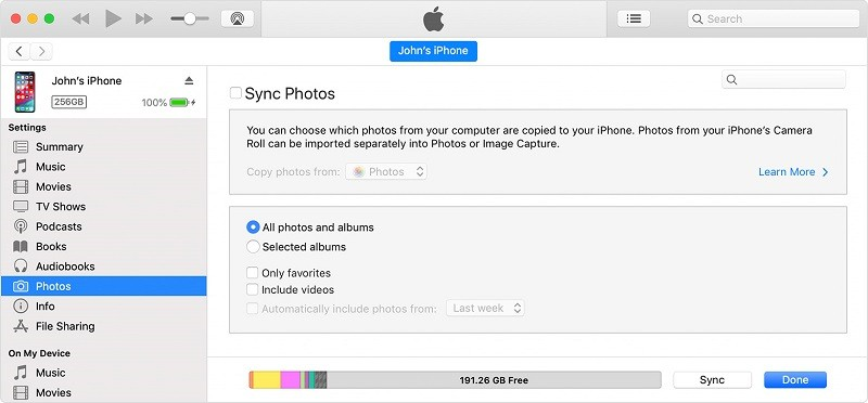transfer photos to new iphone 5