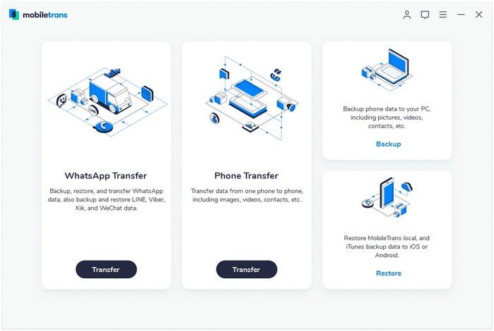 MobileTrans Interface
