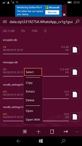 transfer whatsapp windows to android 10