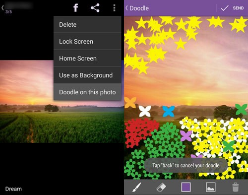 viber feature 8 doodel on any photo