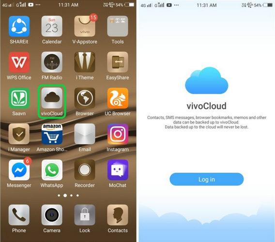 Aplicación VivoCloud