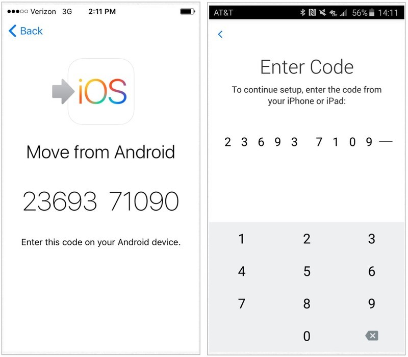 enter digit code