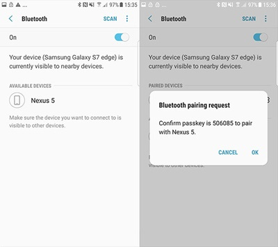 connect bluetooth pairing