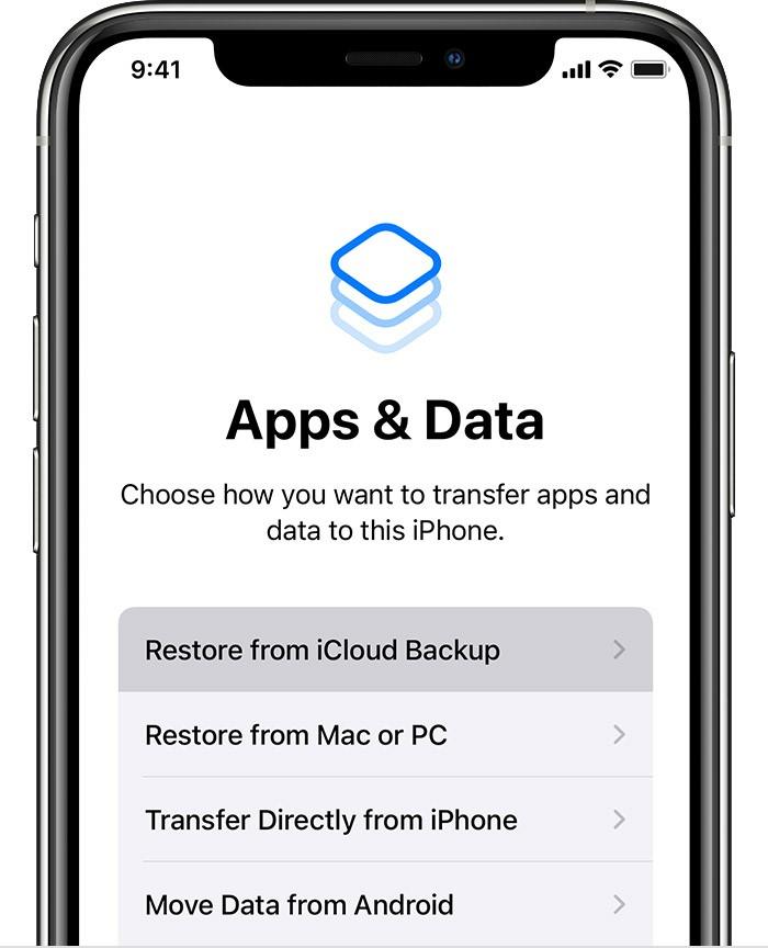 iphone 13 restore backup icloud