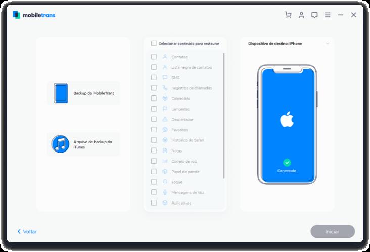 Fazendo login na conta do iCloud - 1º Passo