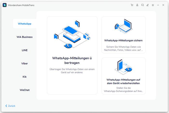 mobiletran funktion-whatsapp übertragen