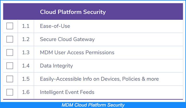 MDM Cloud Platform Security