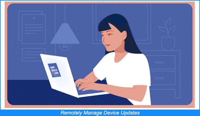 Gestionar remotamente las actualizaciones de los dispositivos