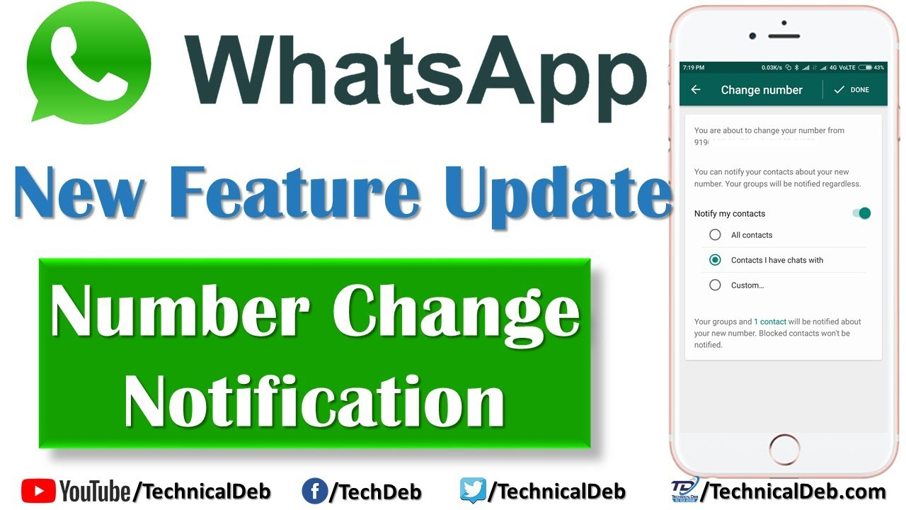 Alt: Change WhatsApp Number Without Notifying Contacts