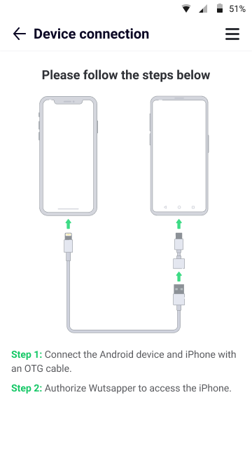 connect iphone and android