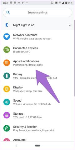 """[Alt: """"settings app""""]"""