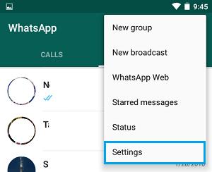 Alt: WhatsApp Settings
