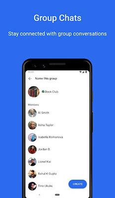 Bate-papo em grupo para aplicativos
