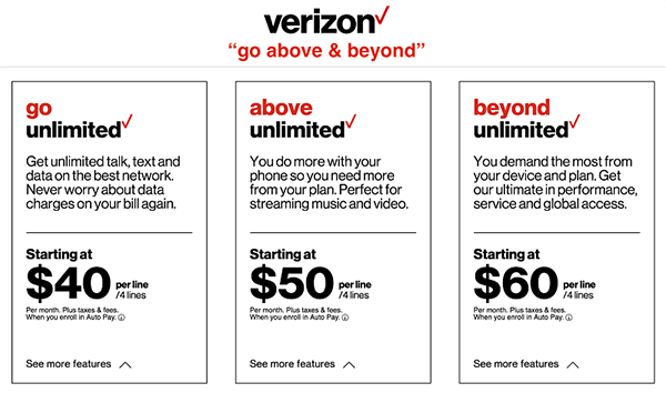 verizon 5g plan