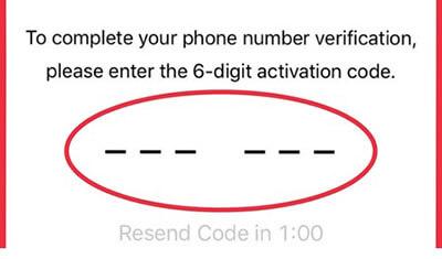 WhatsApp code for verification
