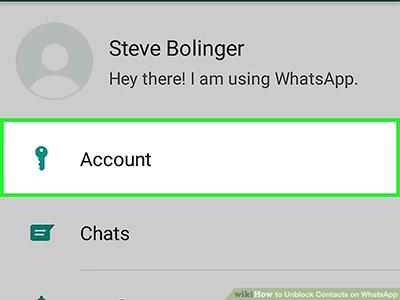 alt text: account option menu