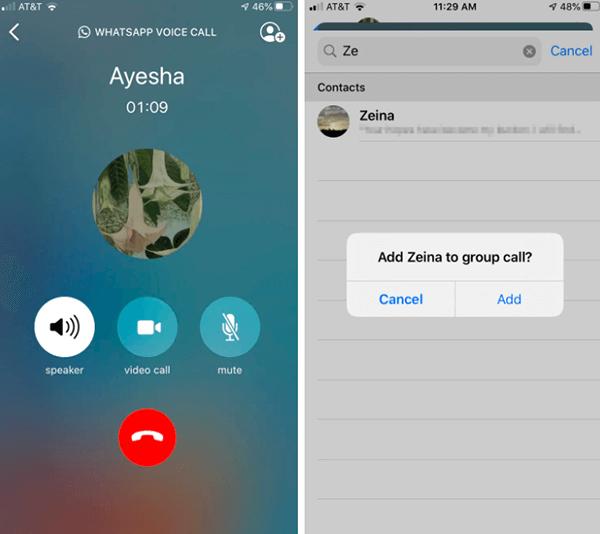 adding to group call