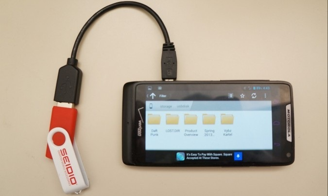 connect android to flash drive via otg
