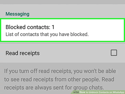 block contact message setting