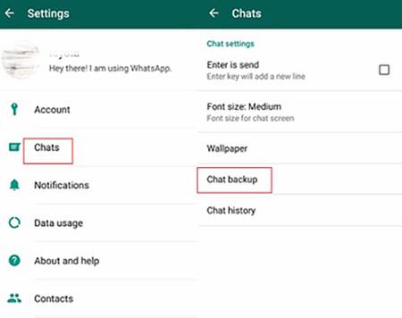 Chat-backup