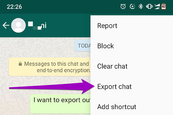 Exporter chat