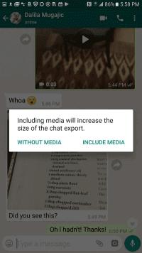 media attachment optional