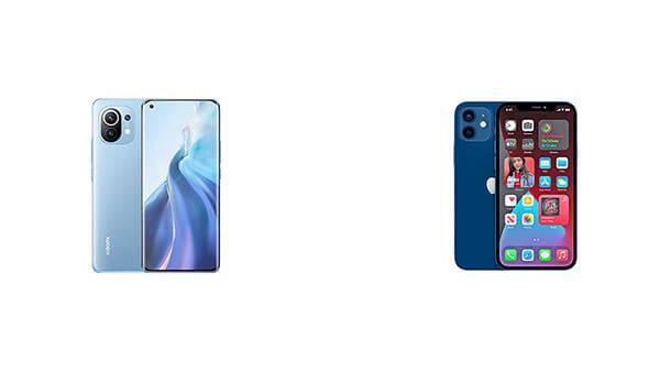 iphone 12 vs mi 11: design and display