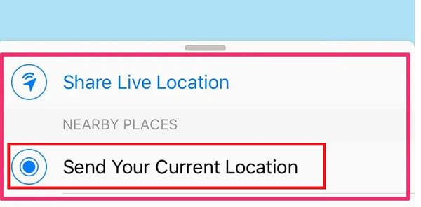 Send-current-location