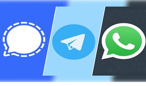 os três aplicativos