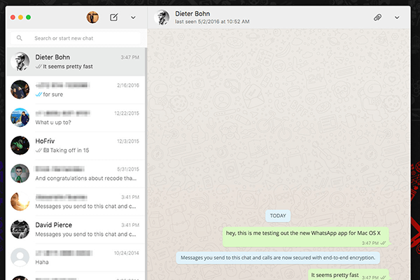whatsapp web contact list