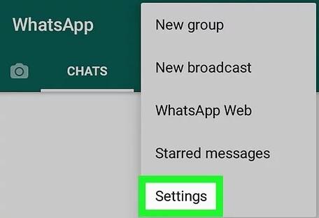 WhatsApp - Configurações