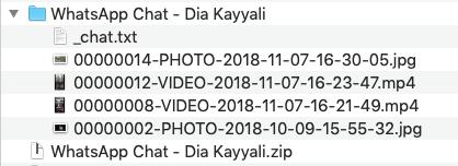 whatsapp chat zip file