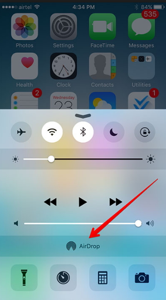 How to Transfer Files from iPhone to Mac-airdrop on iPhone