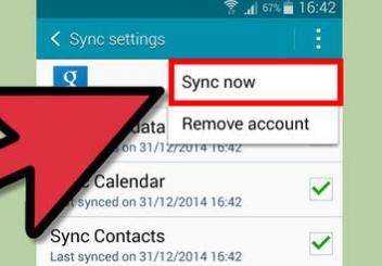 How to transfer contacts from Android to Android-sync now