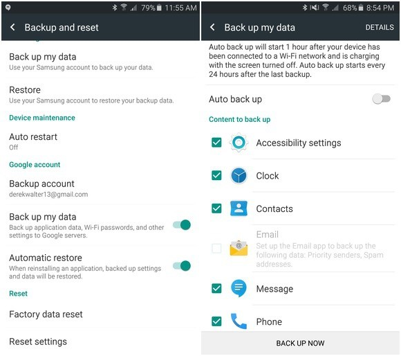 How to backup Android Apps-google