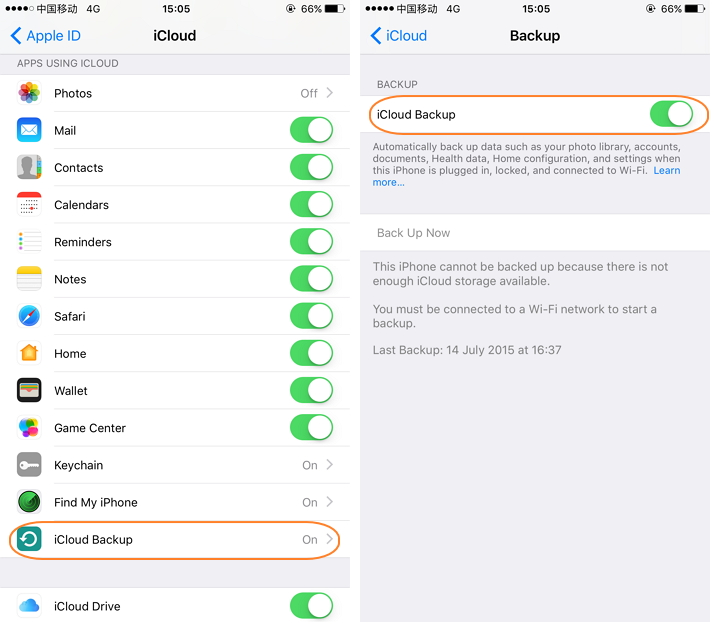 How to backup iphone ipad with icloud-iCloud Backup