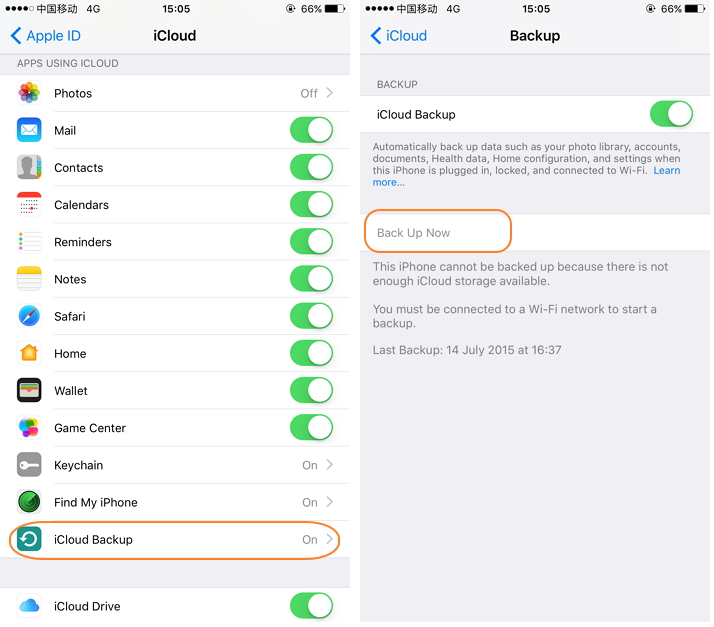 How to backup iphone ipad with icloud-iCloud Backup now