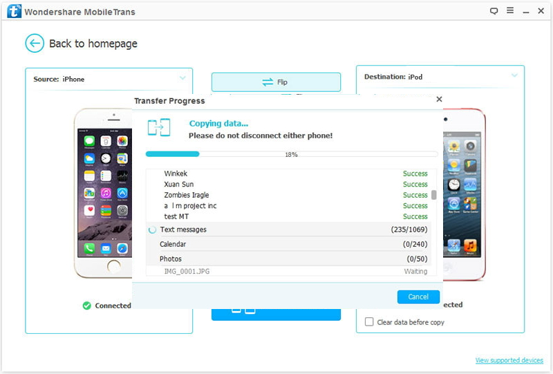 put videos on ipod touch-transferring