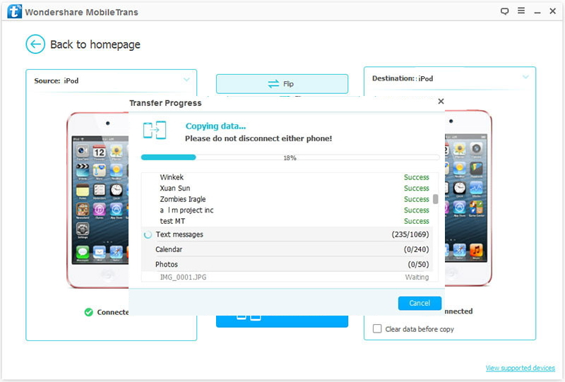 How to Transfer Music from iPod to iPod - transferring