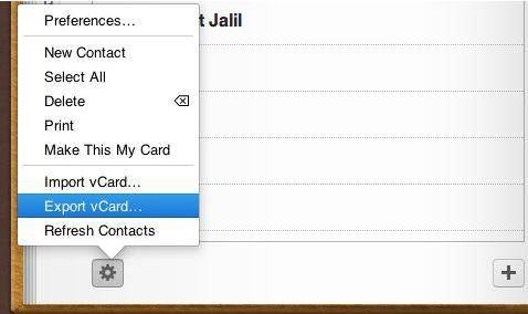 icloud to Android -export to vcard