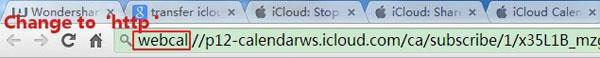icloud to Android -copy and change url