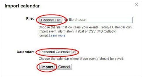 icloud to Android -click import