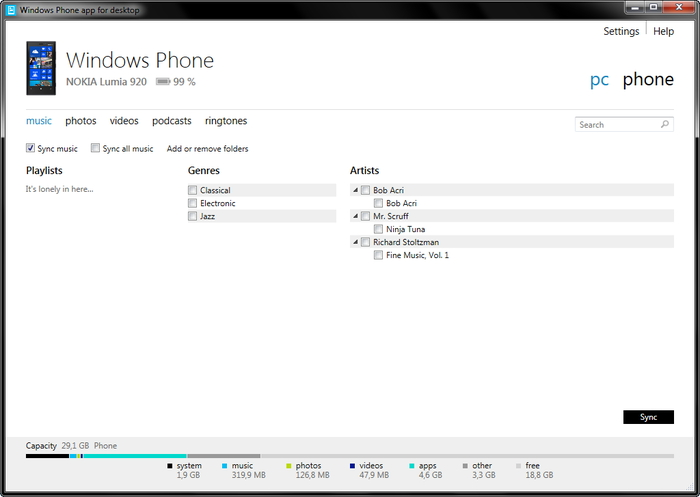 How to copy itunes music to Windows Phone-sync music