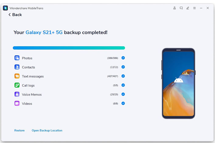 transfer huawei data to computer with mobileTrans