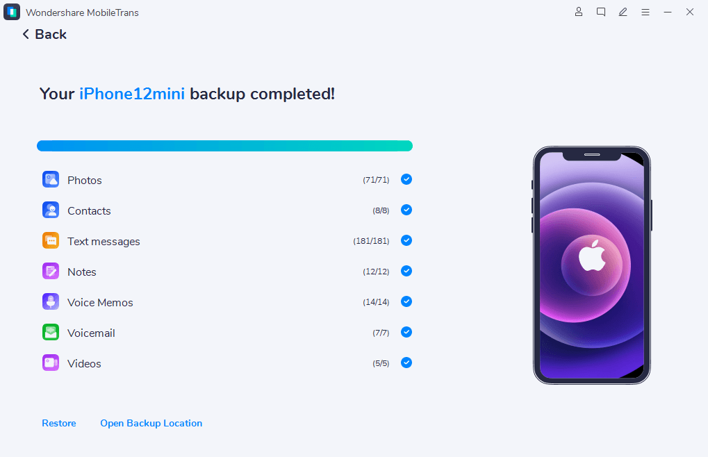 Transfiere contactos desde el iPhone al PC-
