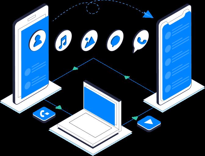 transferência de dados entre celulares