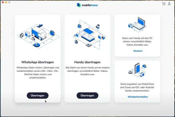 MobileTrans - Home page