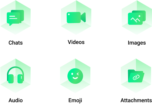 transfer whatsapp videos, images, emoji, and attachments