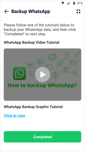 backup your WhatsApp data on Android